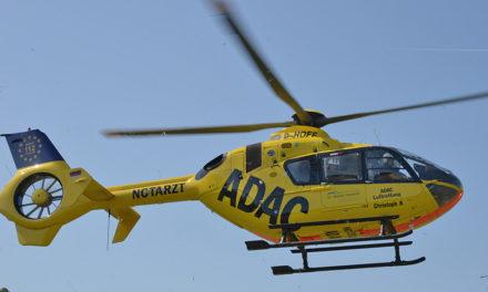 Von der Rodelbahn mit dem Hubschrauber in die Klinik