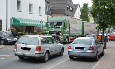 Pöbelnder Trucker sorgt für Chaos auf der Hauptstraße