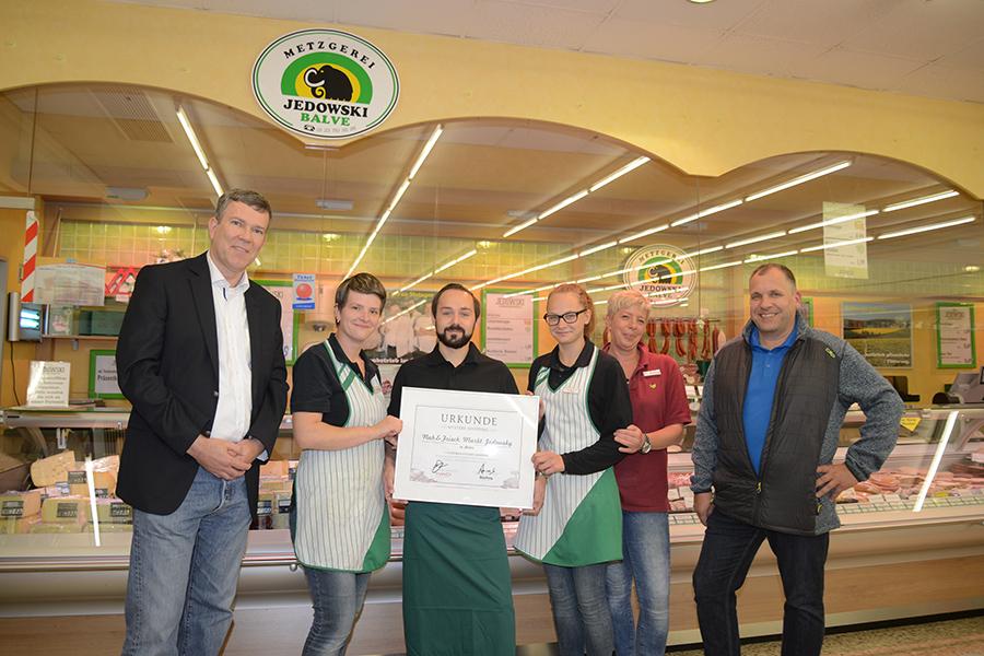 Goldmedaille für Metzgerei-Filiale im Markant-Markt lässt Jedowski-Team jubeln