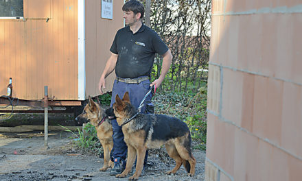 Schäferhündin Najla verhindert Diebstahl am neuen Feuerwehrhaus in Mellen