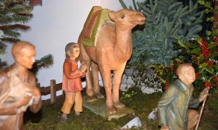 Kamel und Kameltreiber sind in der St.-Blasius-Kirche angekommen