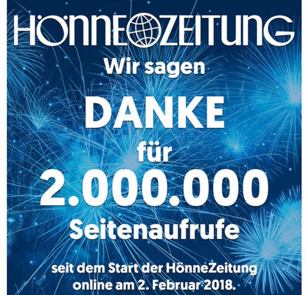 HÖNNE-ZEITUNG geht als zweifache Millionärin ins neue Jahr