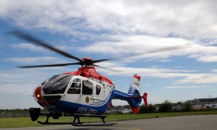 Bedrohung mit Schusswaffe: Polizei-Hubschrauber-Fahndung