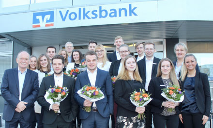 Volksbank: Garbecker Marius Vielhaber neuer Bankkaufmann