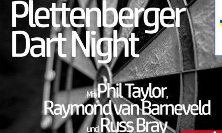 Darts-Legenden Phil Taylor und Raymond van Barneveld in Plettenberg