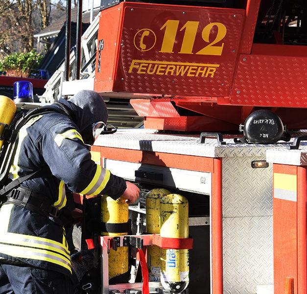 Nach Alarmierung kurzer Feuerwehreinsatz in Firma Rickmeier