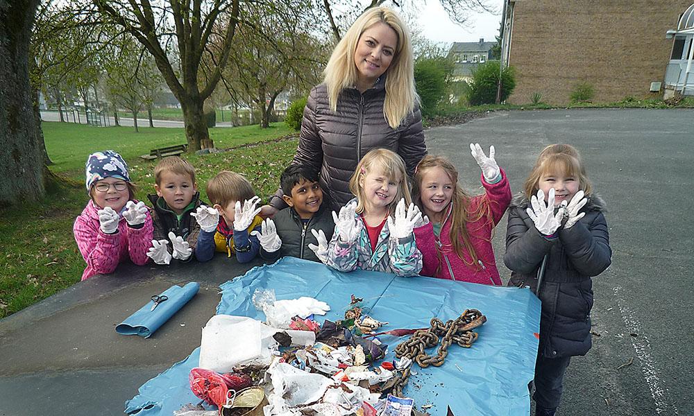 Kindergarten Eisborn: Vorbild für Aktion Saubere Landschaft