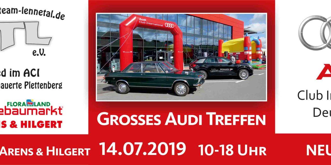 9. Audi-Treffen am 14. Juli vor Hagebaumarkt in Neuenrade