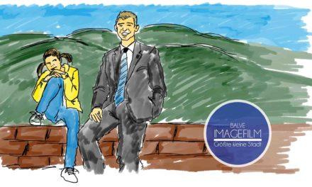 Bürgermeister und kesse Göre Romy im Mittelpunkt eines emotionalen Imagefilms