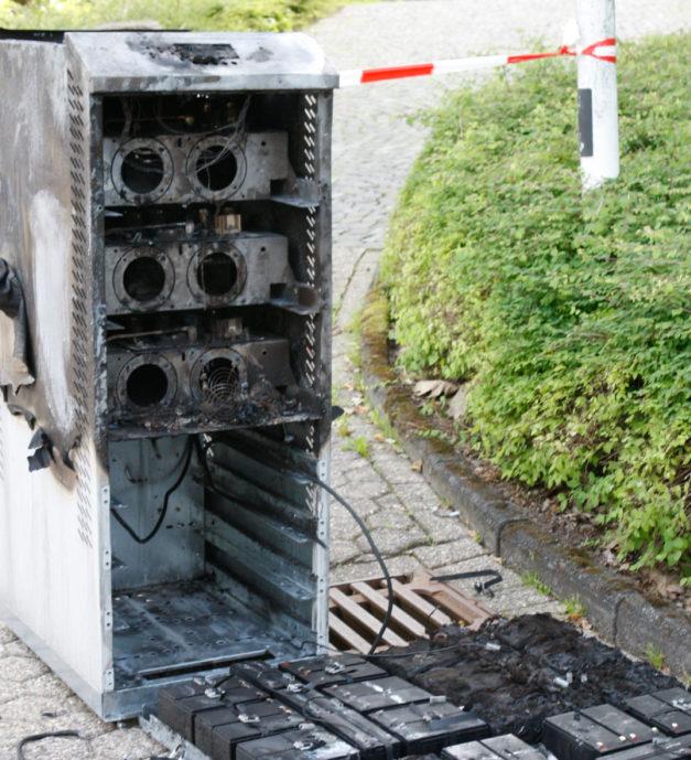 Feuer im Serverraum legt Kreishaus lahm
