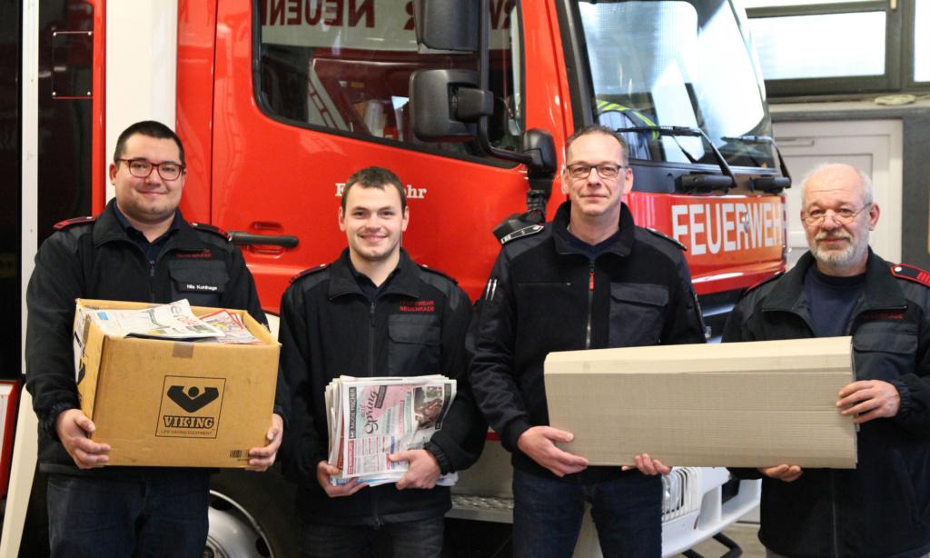 NEUENRADE: Feuerwehr-Förderverein sammelt Samstag Altpapier ein