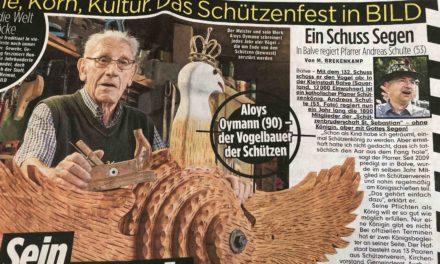 """BILD-Schlagzeile: """"Ein Schuss Segen"""" – Balver Schützenkönig Schulte schafft es in die Zeitung mit den vier großen Buchstaben"""