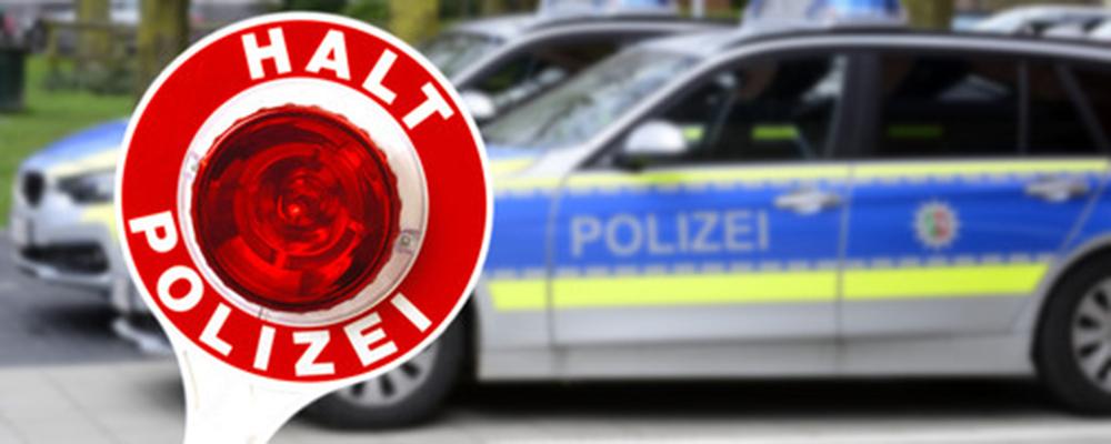 Polizei stoppt Raser- Statt 80 km/h mit 190 km/h unterwegs