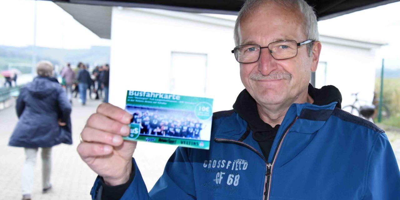 Busfahrkarten für Spiel auf Schalke im Verkauf – Kinder in Liste eintragen