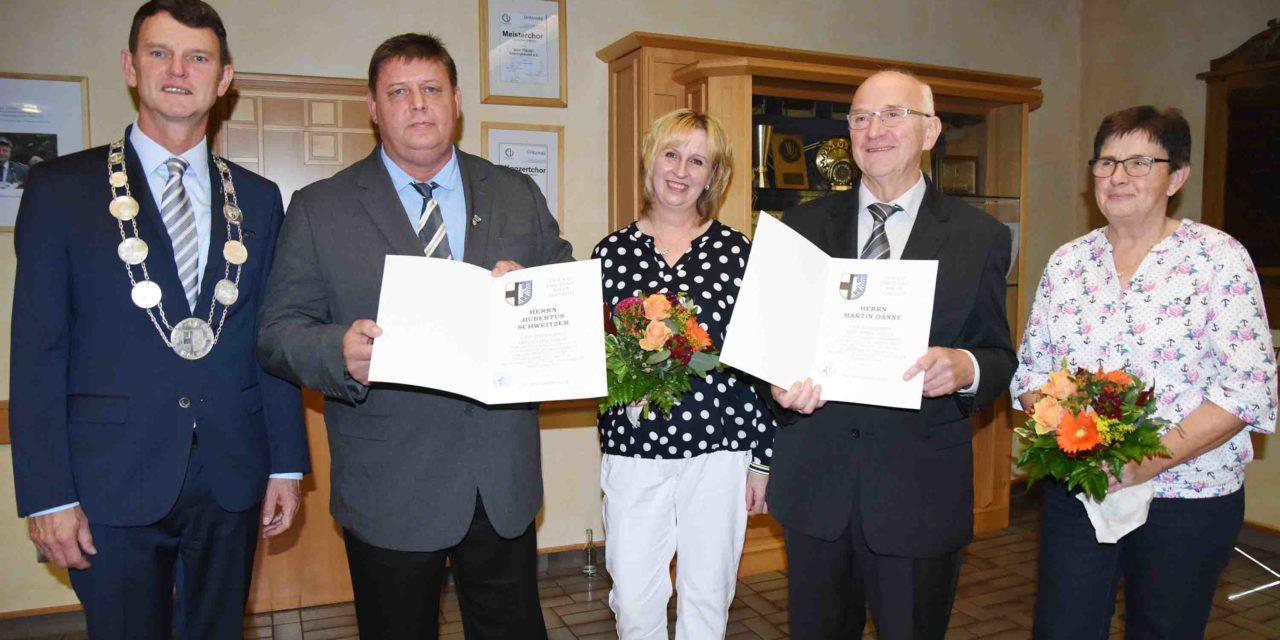 EILMELDUNG: Ehrenring der Stadt Balve für zwei Ratsmitglieder