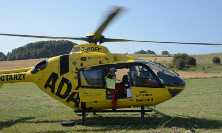 Pedelec-Fahrer mit Hubschrauber in Klinik geflogen