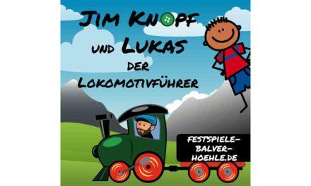 Jim Knopf und Lukas der Lokomotivführer erwarten heute Mitreisende