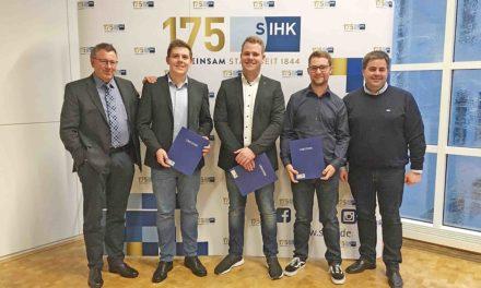 EILMELDUNG: SIHK ehrte heute Abend drei herausragende Azubis der Firma Rickmeier
