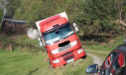 Lkw auf Gebirgsweg im Sauerland verfranzt – Baum muss für Bergung gefällt werden