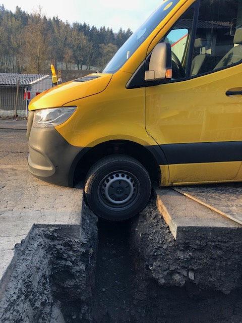 Baugrube stoppt Sprinter