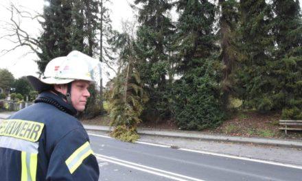 """""""Sabine"""" hat bereits dreimal zugelangt in der Stadt Balve – K 39 komplett gesperrt"""