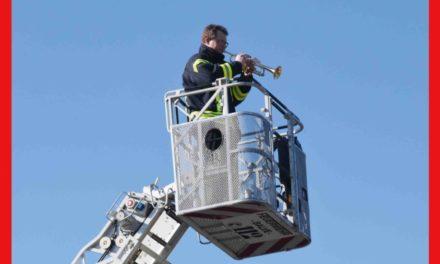 EILMELDUNG: Beifall erreicht Trompeter Westermann in 24 Meter Höhe