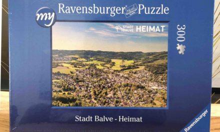Stadt Balve als Puzzle – Verkauf im Innenstadtbüro
