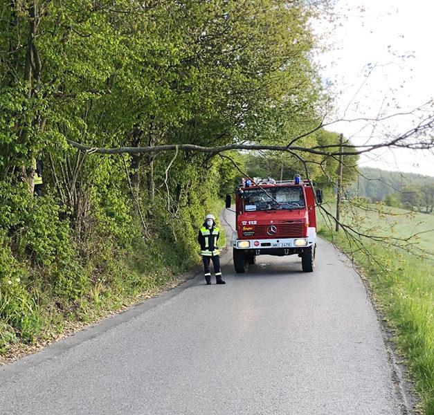 Feuerwehr zwischen Mellen und Beckum im Einsatz