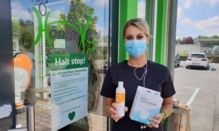 Nachbarschaftshilfe: Schutzmasken und Desinfektionsmittel im HönneVital erhältlich