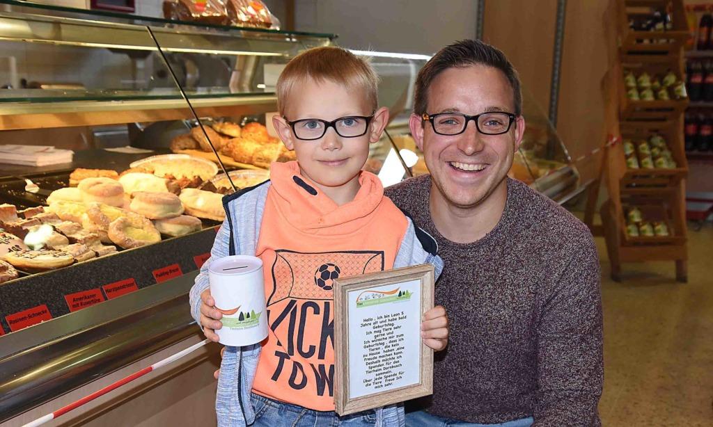 6-jähriger Leon aus Balve sammelt 600 Euro für Tierheim