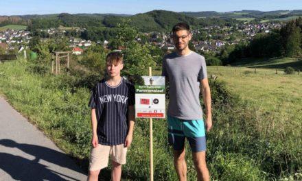 Fleißige Helfer haben Panoramalauf-Strecke ausgeschildert