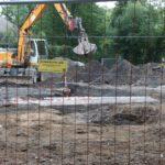 Bagger stößt auf Bunker und Splittergraben