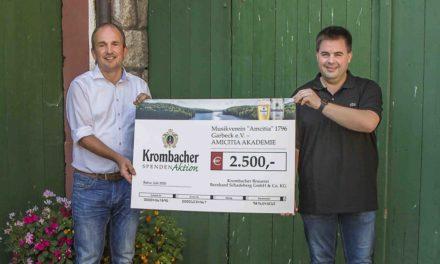 Krombacher Brauerei spendet 2.500 Euro an Garbecker Nachwuchsmusiker