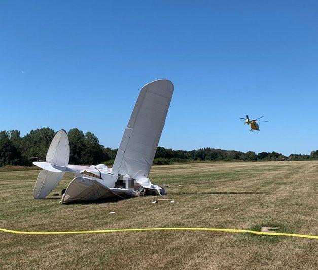 Leichtflieger abgestürzt: Pilot stirbt – Passagier lebensgefährlich verletzt