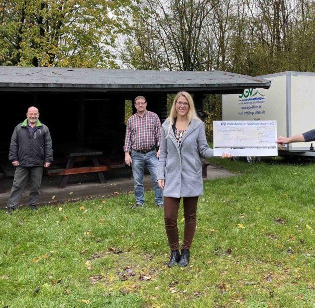 Regionalbeirat spendet SGV-Abteilung Affeln 750 Euro