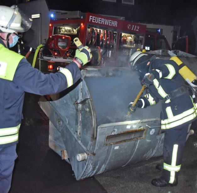 HEUTE ABEND: Brandstiftung Ursache für Containerbrand?