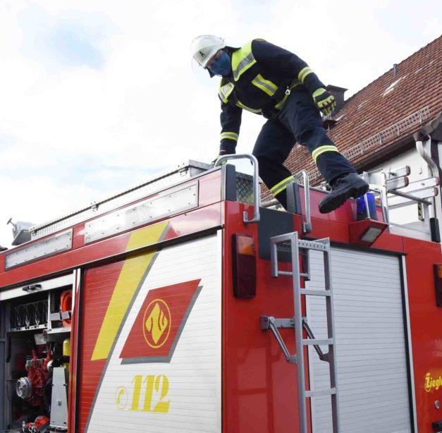 Blitzeinsatz der Balver Feuerwehr in der Garbecker Straße